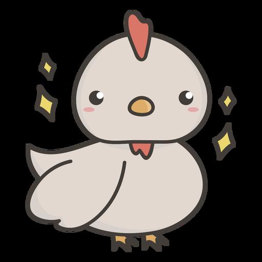Cute chicken flat