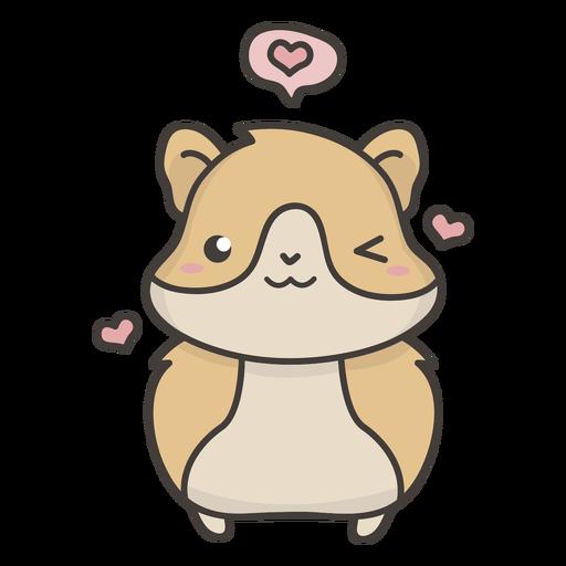 Cute hamster flat