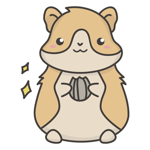 Cute hamster eating flat