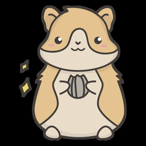 Hamster fofo comendo comida