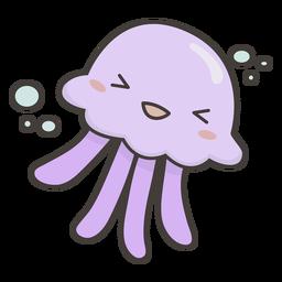 Plano lindo medusas