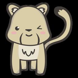 Cute cougar winking flat