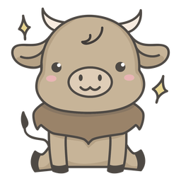 Cute ox flat