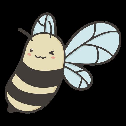 Bee flying flat