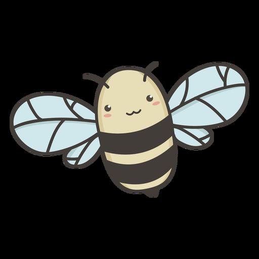 Kawaii bee flat