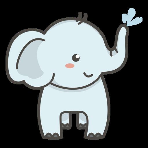 Adorable elephant flat