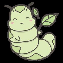 Smiling caterpillar flat