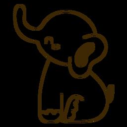 Golpe de elefante feliz