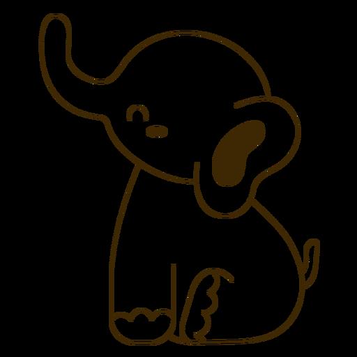 Happy elephant stroke