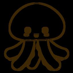 Happy jellyfish filled-stroke