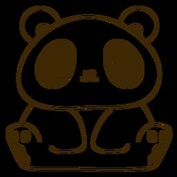 Feliz panda lleno de golpes