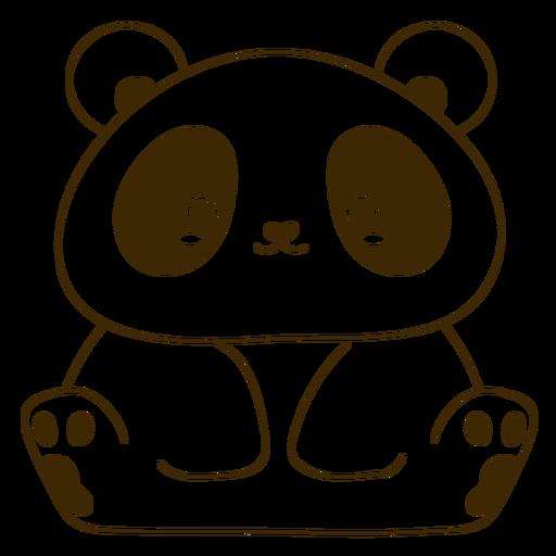 Happy panda filled-stroke