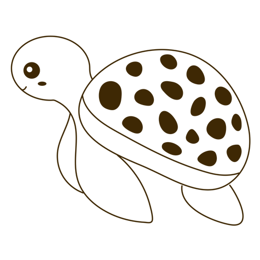 Turtle swimming filled-stroke
