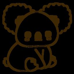 Happy koala filled-stroke