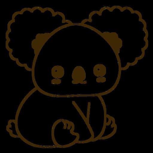 Feliz koala lleno de golpes