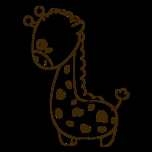 Feliz jirafa llena de trazo