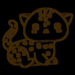 Golpe lleno de guepardo feliz