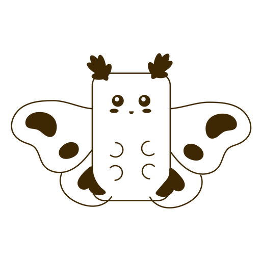 Happy moth filled-stroke Transparent PNG