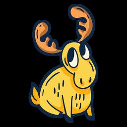 Funny moose cartoon
