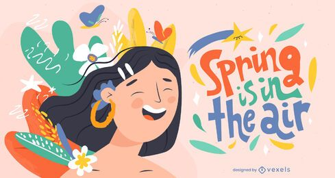 Spring in the air illustration design