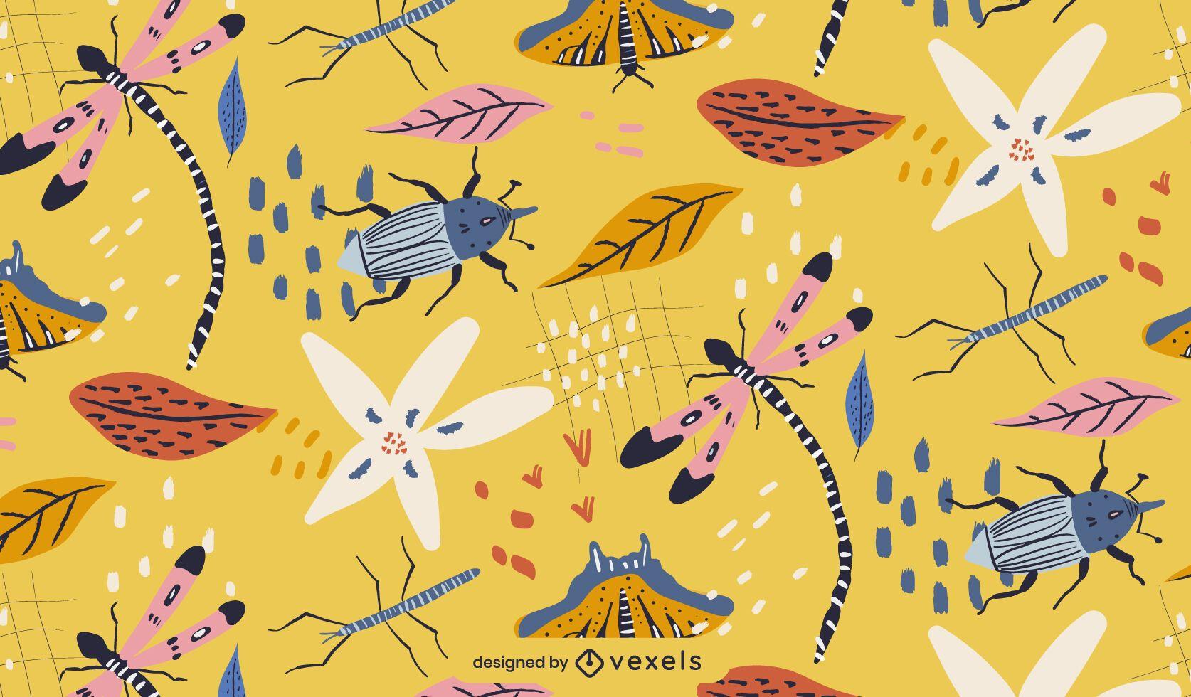 Spring bugs pattern design