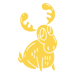 Happy moose cut-out