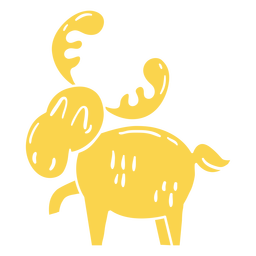 Funny moose cut-out