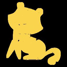Recorte amarillo guepardo feliz