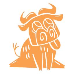 Happy ox cut-out