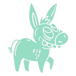 Big teeth donkey cut-out