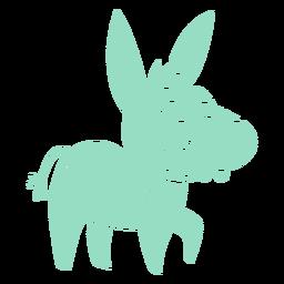 Recorte de burro de dientes grandes