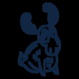 Happy moose filled-stroke