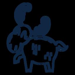 Funny moose filled-stroke