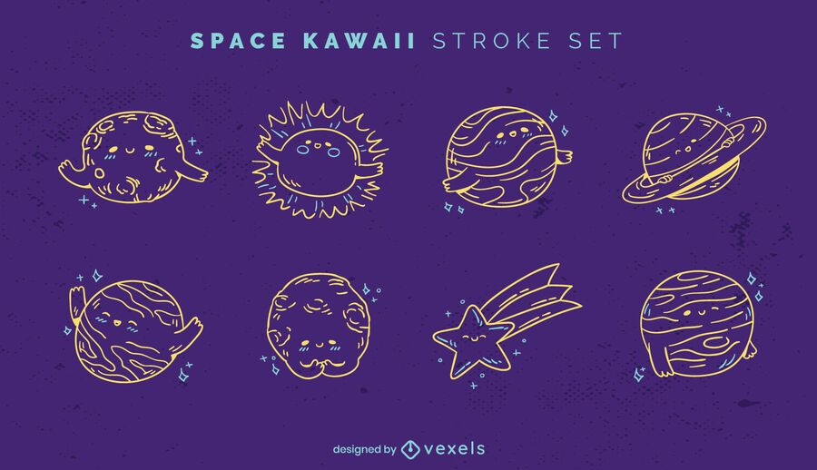 Kawaii Space Stroke Set