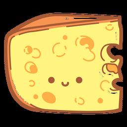 Dibujos animados de rebanada de queso feliz