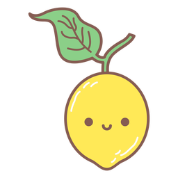 Happy lemon cartoon