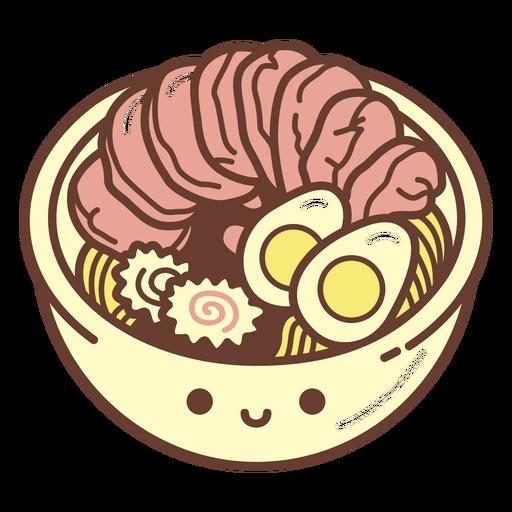 Dibujos animados de tazón de ramen
