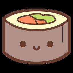 Cute dibujos animados de sushi