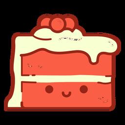 Dibujos animados de pastel de terciopelo rojo