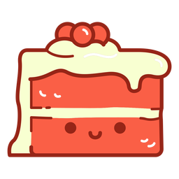 Red velvet cake cartoon