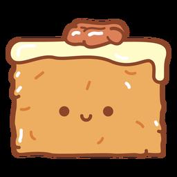 Dibujos animados de pastel de zanahoria feliz
