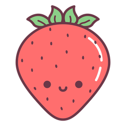 Happy strawberry cartoon