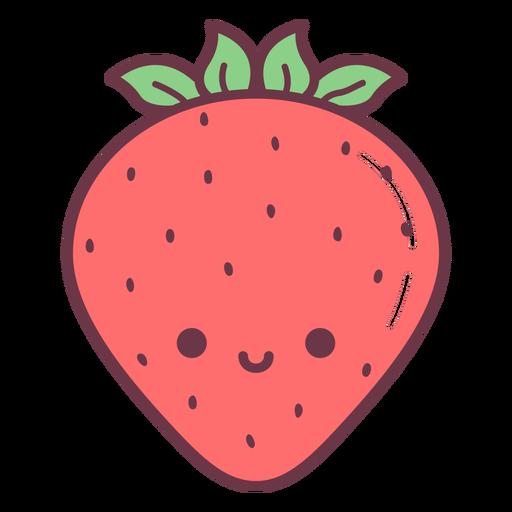 Dibujos animados de fresa feliz