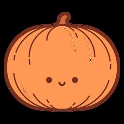 Happy pumpkin cartoon