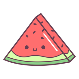 Watermelon slice cartoon