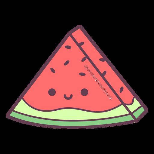 Wassermelonenscheibenkarikatur
