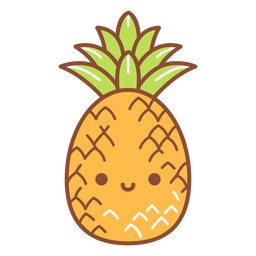 Happy pineapple cartoon