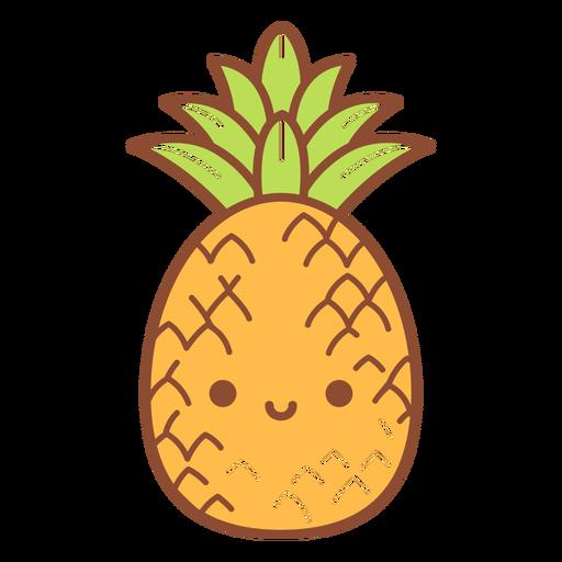 Desenho animado de abacaxi feliz