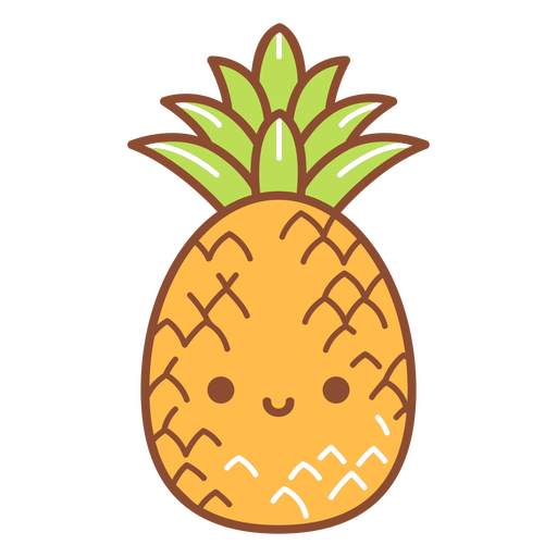 Happy pineapple cartoon Transparent PNG