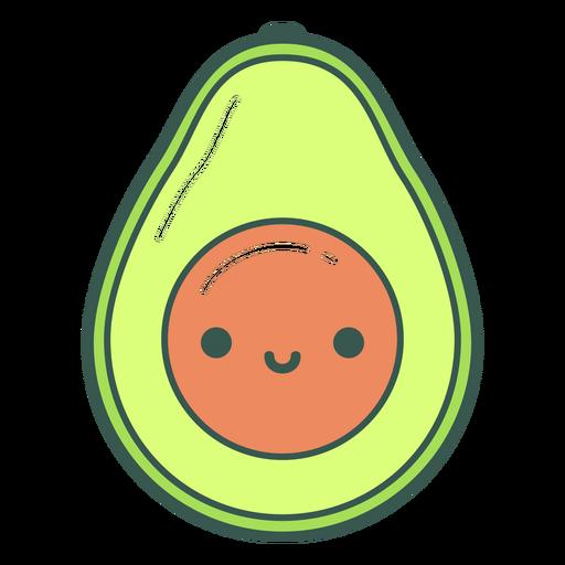 Happy avocado cartoon